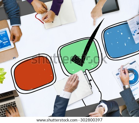 Assessment Evaluation Consideration Analysis Planning Strategy Concept - stock photo