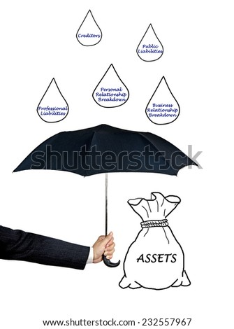 asset protection - stock photo