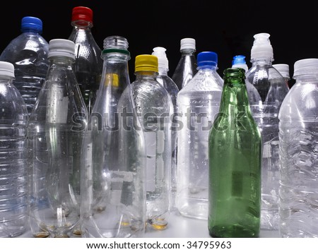 Assorted bottles - stock photo