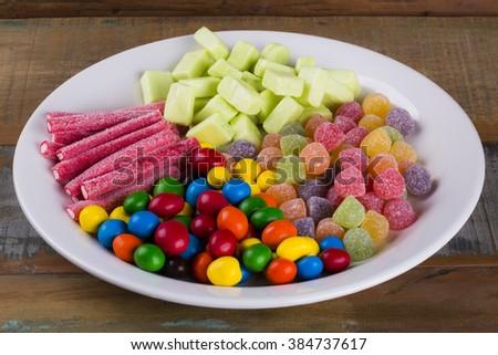 Assorted Candies/ Assorted Candies/ Assorted Candies - stock photo