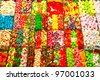 Assorted candy in a market, Barcelona, spain. - stock photo