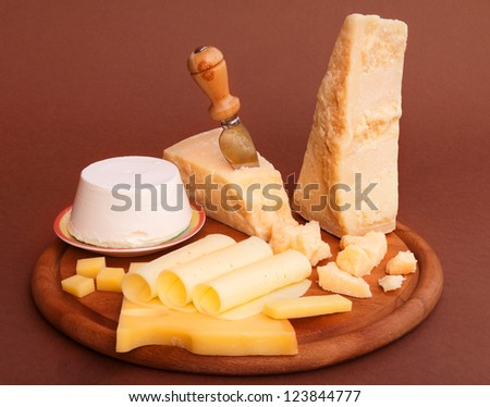 Assorted cheeses - stock photo