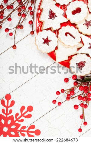 Assorted Christmas cookies - stock photo