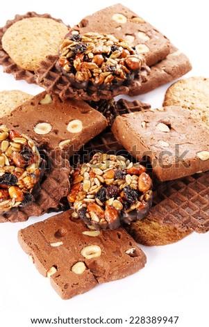 assorted cookies - stock photo