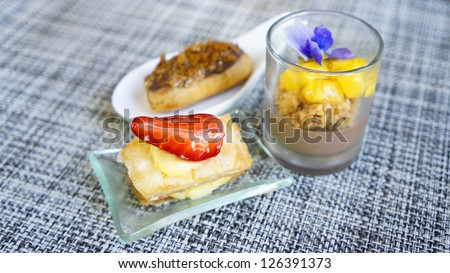 Assorted dessert - stock photo