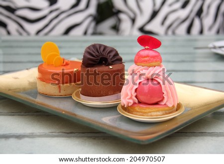 Assorted French Patisseries - stock photo