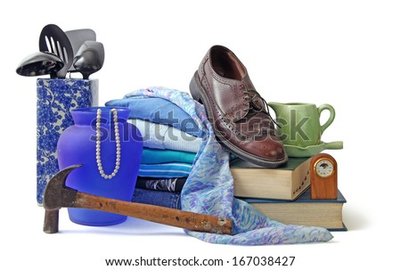 Assorted household and personal items  - stock photo