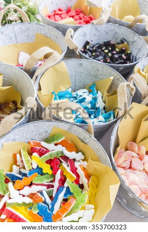 assorted jelly candy - stock photo