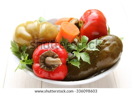 Assorted pickles - stock photo