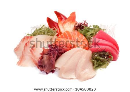 Assorted Sashimi - stock photo
