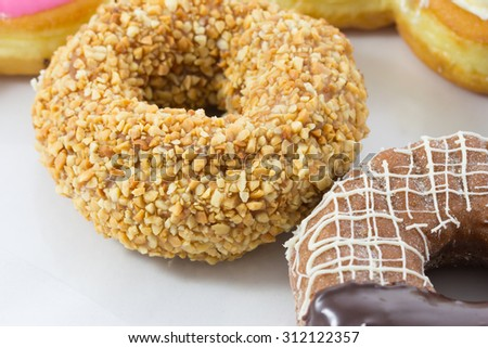 Assorted sweet donut - stock photo
