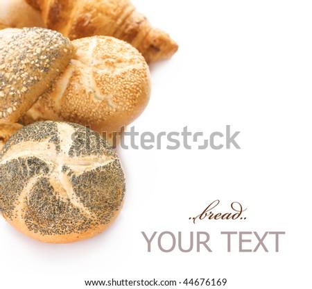 Assortment Bread Border - stock photo