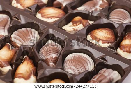 assortment chocolates - stock photo