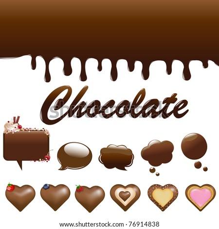 Assortment Chocolates, Isolated On White Background - stock photo