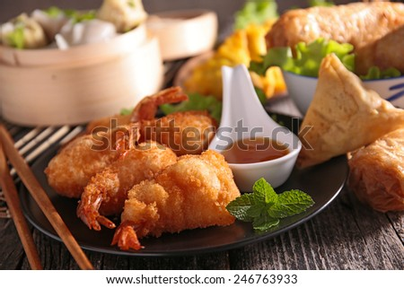 assortment of asian cuisine - stock photo