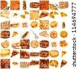 Assortment Of Pizza - stock photo