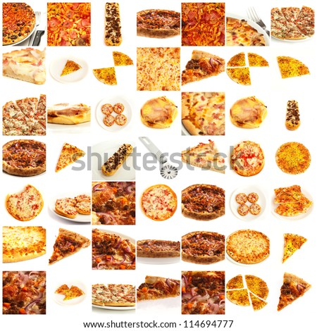 Assortment Of Pizza - stock photo