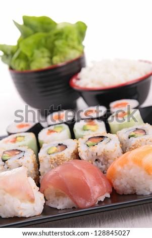 assortment of sushi - stock photo