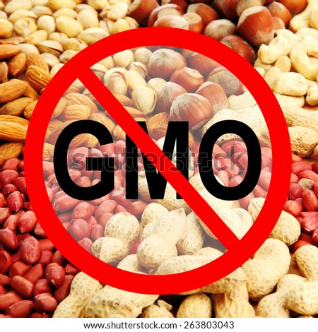 Assortment of tasty nuts without gmo - stock photo
