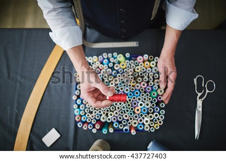 Assortment of threads - stock photo