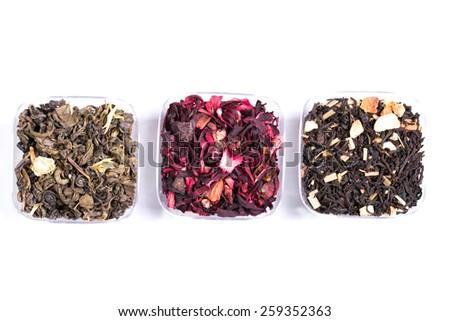 assortment tea - stock photo