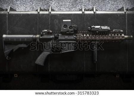 assult rifle - stock photo