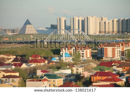 Astana Skyline City of Expo 2017 - stock photo