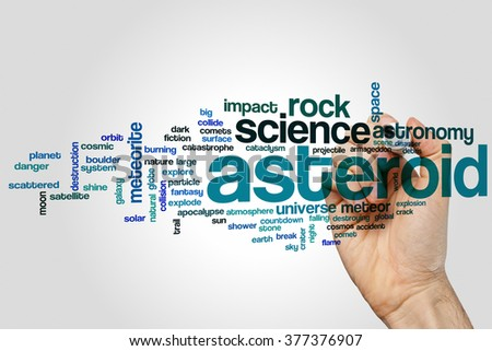Asteroid word cloud concept - stock photo
