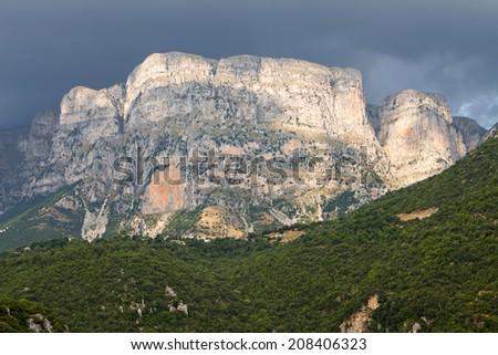 Astraka peak at Pindos mountains of Epirus region, in Greece - stock photo