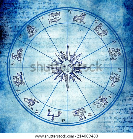 astrological wheel  - stock photo