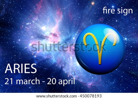 astrology sign of Aries - stock photo