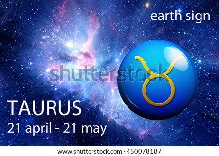 astrology sign of Taurus - stock photo