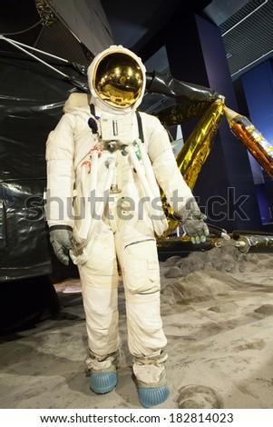 Astronaut and spaceship  - stock photo