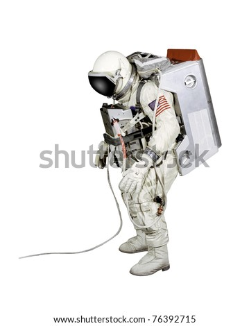 Astronaut on a white background - stock photo