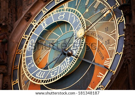 Astronomical watch in Prague - stock photo