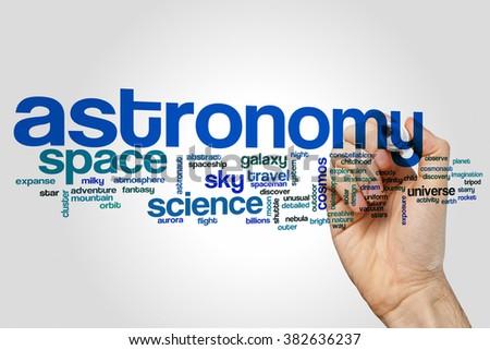 Astronomy word cloud - stock photo