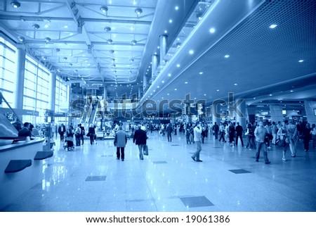 At airport - stock photo