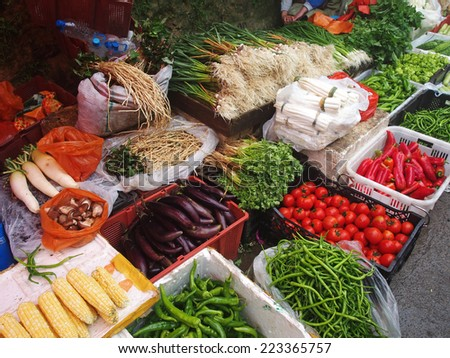 At food market in china       - stock photo
