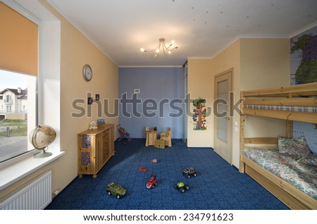 At home. Room for kid. Luxury, indoors.   - stock photo