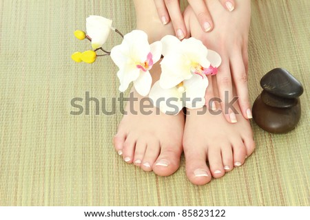 At spa salon - stock photo