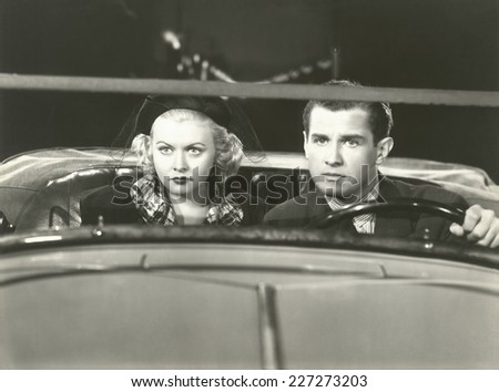 At the drive-in - stock photo