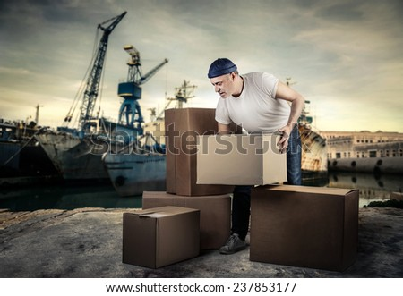 At the harbour  - stock photo