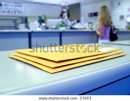 At the Post office - stock photo
