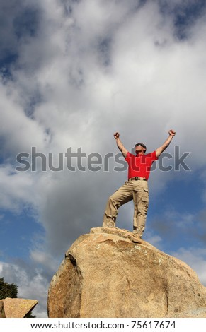 At the top - stock photo