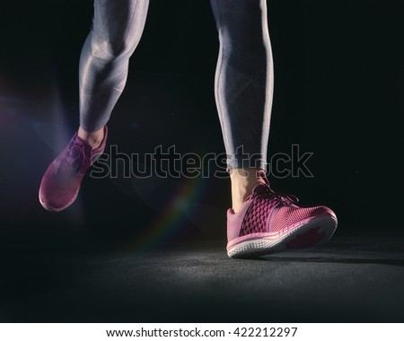athletes foot close-up. healthy lifestyle and sport concepts.  - stock photo