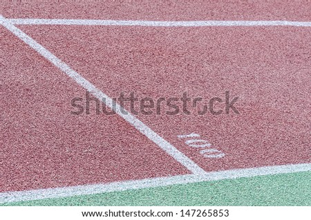Athletics stadium. The markup tracks. - stock photo