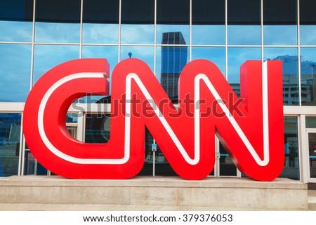 ATLANTA - AUGUST 29: CNN Center in Atlanta on August 29, 2015 in Atlanta. The CNN Center is the world headquarters of CNN. - stock photo