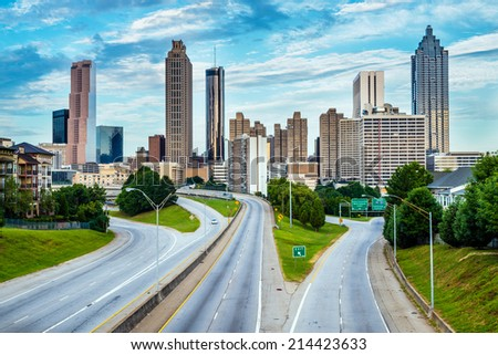 Atlanta downtown skyline - stock photo