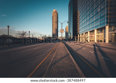 Atlanta street at sunny morning, Georgia, USA - stock photo
