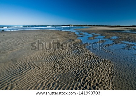 Atlantic Canada and its beautiful uncrowded beaches - stock photo